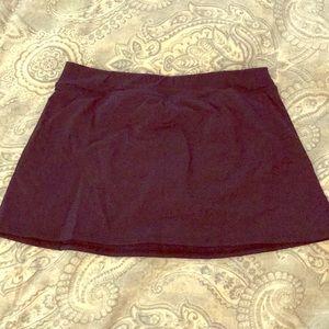 Lands End Navy Blue Swim Skirt Size 12 New!